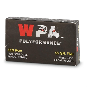 Wolf  9MM  115 grain FMJ  BOX OF 50