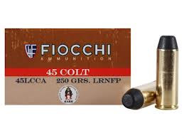 Fiocchi 45LC  250 LRNFP  BOX OF 50